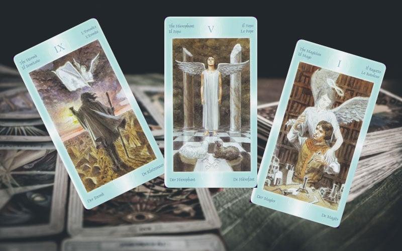 Carte dei tarocchi angelici
